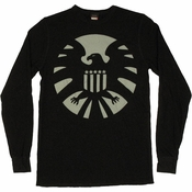 SHIELD Logo Thermal Long Sleeve T Shirt