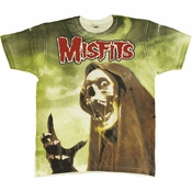 Misfits Devils Rain All Over T Shirt