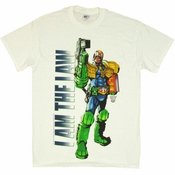 Judge Dredd I Am Law White T Shirt