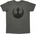 Star Wars Vintage Rebel Logo T Shirt Sheer