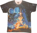 Star Wars Poster Sublimated T Shirt Sheer