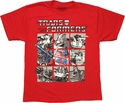 Transformers Gray Box Group Youth T Shirt