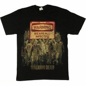 Walking Dead Warning Sign T Shirt
