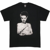 Bride of Frankenstein Vintage Portrait T Shirt