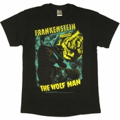 Frankenstein Meets the Wolf Man T Shirt
