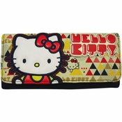 Hello Kitty Geometric Clutch Wallet
