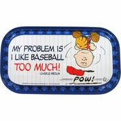 Peanuts Charlie Baseball Magnetic Tin Sign