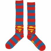 Superman Striped Socks