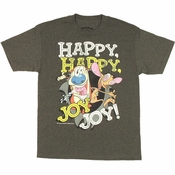 Ren and Stimpy Happy Joy T Shirt