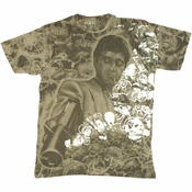 Scarface Foil Skull T Shirt Photo Sheer