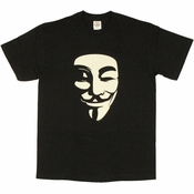 V for Vendetta White Mask T Shirt