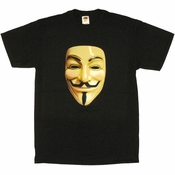 V for Vendetta Mask T Shirt