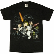 Family Guy Star Wars Blue Harvest T Shirt