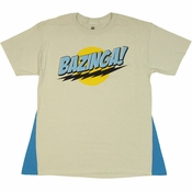 Big Bang Theory Bazinga Gray Caped T Shirt