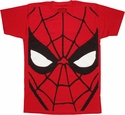 Spiderman Huge Head T Shirt Sheer