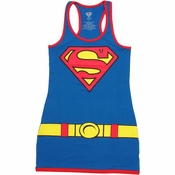 Supergirl Royal Blue Tank Top Dress