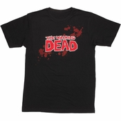 Walking Dead Comic Logo T Shirt Sheer