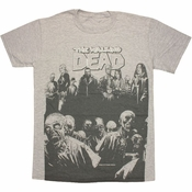 Walking Dead Comic Cast T Shirt Sheer
