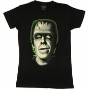 Munsters Green Herman Baby Tee