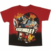 Avengers Movie Assemble Juvenile T Shirt