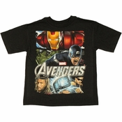 Avengers Movie Group Juvenile T Shirt