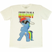 My Little Pony Proud Brony T Shirt Sheer
