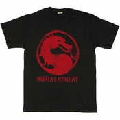 Mortal Kombat Red Logo T Shirt