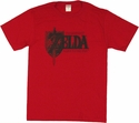 Zelda Logo Red T Shirt