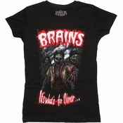 Zombies Brains Dinner Baby Tee