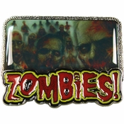 Zombies Feast Cover Belt Buckle