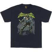 Batman Nightwing Under Logo T Shirt