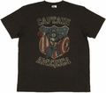 Captain America Crest T Shirt Sheer
