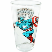 Captain America Side Star Pint Glass
