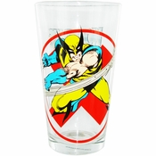 X Men Wolverine Red X Pint Glass