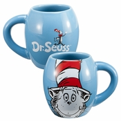 Dr Seuss Cat Hat Oval Mug
