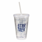 Star Trek Enterprise Blueprint Travel Cup
