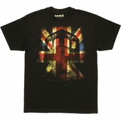 Doctor Who Union Jack TARDIS T Shirt