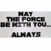 Star Wars Force Always Black Decal
