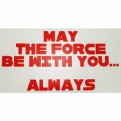 Star Wars Force Always Red Decal