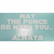 Star Wars Force Always White Decal