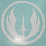 Star Wars Jedi Order White Decal