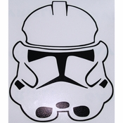 Star Wars Clone Helmet Black Decal