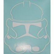 Star Wars Clone Helmet White Decal