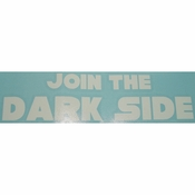 Star Wars Join Dark Side White Decal