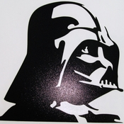 Star Wars Vader Profile Black Decal