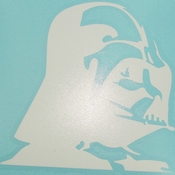 Star Wars Vader Profile White Decal