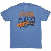 Dukes of Hazzard Vintage Group T Shirt Sheer