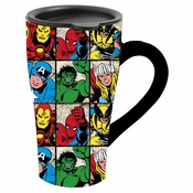 Marvel Grid Ceramic Travel Mug