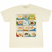 Adventure Time Finn Faces T Shirt
