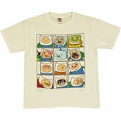 Adventure Time Finn Faces Youth T Shirt